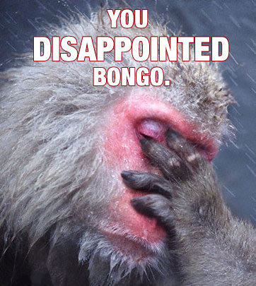 Bongo is Dissapoint